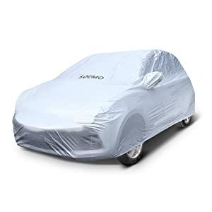 Amazon Brand   Solimo Chevrolet Beat UV Protection   Dustproof Car Cover  Silver  AllTrickz.jpg