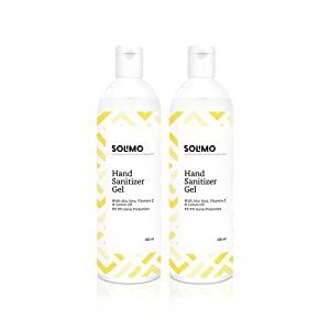 Amazon Brand   Solimo Hand Sanitizer Gel   200 ml  Pack of 2 AllTrickz.jpg