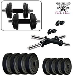 SPORTO Fitness 20 KG Adjustable Dumbbell Set for Tone up Your Muscles AllTrickz.jpg
