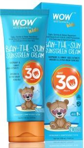 WOW SKIN SCIENCE Kids Ban the Sun Sunscreen Cream   SPF 30+ PA+++   SPF 30+ PA++ 100 ml  AllTrickz.jpg