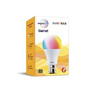 Wipro Garnet 9W Easy to Setup Wi Fi Smart Bulb  16 Million color + White Tunable   Compatible With Alexa  AllTrickz.jpg