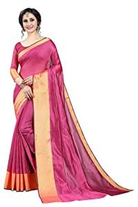 Arkee Designer Womens Cotton silk saree with blouse peac AllTrickz.jpg