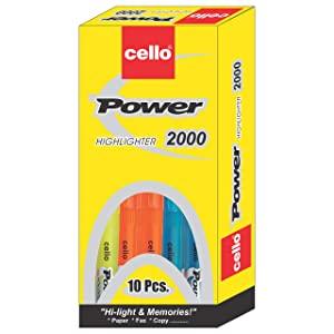 Cello Power Line Highlighter   Pack of 10  Multicolor  AllTrickz.jpg