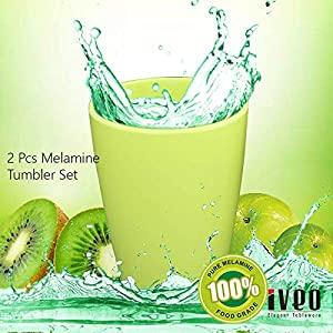 Iveo 100 Percent Melamine Tumbler Green 2 Pcs Set AllTrickz.jpg