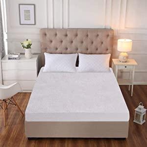 "SLEEP SPA By Coirfit Cotton Terry Waterproof   Dustproof Small Size Mattress Protector   White   75""x36"" AllTrickz.jpg"