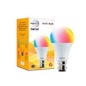 Wipro WiFi Enabled Smart LED Bulb B22 9 Watt  16 Million Colors   Warm White AllTrickz.jpg