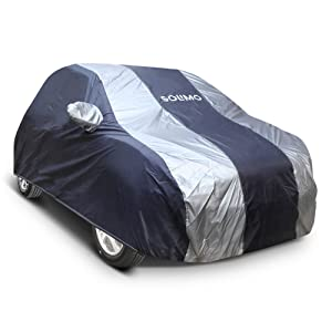 Amazon Brand   Solimo Renault Kwid UV Protection   Dustproof Car Cover  Dark Blue   Silver  AllTrickz.jpg
