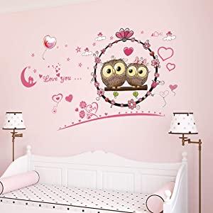 Amazon Brand   Solimo Wall Sticker for Bedroom  Owl love Décor   AllTrickz.jpg