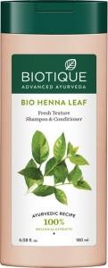 BIOTIQUE Bio Henna Leaf Fresh Texture Shampoo   Conditioner 180 ml 180 ml  AllTrickz.jpg