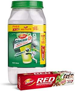 Dabur Glucose  D Energy Boost with Vitamin D   1 Kg with Dabur Red Paste 200 g Free AllTrickz.jpg