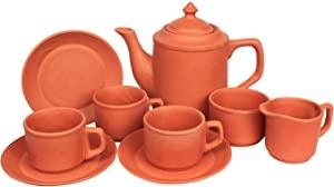 Elegant Casa Terracotta Tea Set with 6 Cups AllTrickz.jpg