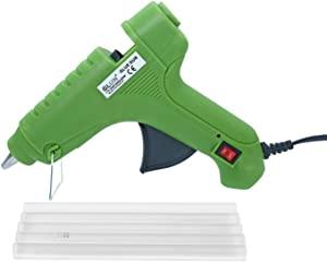 GLUN Green 80W Hot Melt Glue Gun with 5 Transparent Glue Sticks  11mm  AllTrickz.jpg