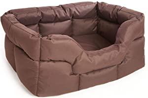 KOZI PET Sofa Style Rectangular Shape Waterproof Heavy Duty Brown Color Polyster Filled Dog AllTrickz.jpg