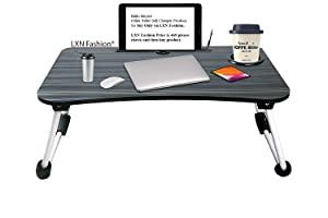 LXN® table for home Foldable Wooden For Makeup Bed  Black  AllTrickz.jpg