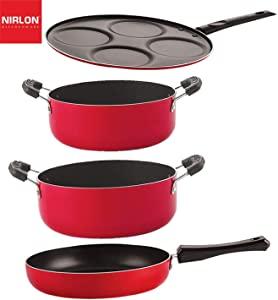 Nirlon Gas Compatible Non Stick Aluminium Cookware Set of 4 Pieces  FP13_UP4_CS26_CS24  AllTrickz.jpg