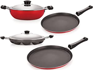 Nirlon High Quality Rust Free Non Stick Coated Kitchenware Gift Set with Steel Lid AllTrickz.jpg
