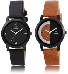 Om Designer Analogue Multicolor Leather Belt Watches Pack of 2 for Girls   Women #133 AllTrickz.jpg