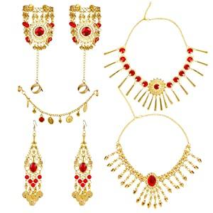Outgeek Jewelry Set,Set Necklace for Women Stylish 7pcs   Blue  AllTrickz.jpg