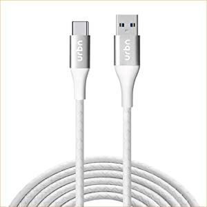 URBN Type C USB 3 Amp Fast Charging Data and Sync Cable Extra Tough Quick Charge 18W Compatible  4 Feet  1.2M   White AllTrickz.jpg