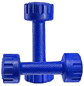 Aurion M1 Pvc Dumbell 1 KG x 2  Blue  AllTrickz.jpg