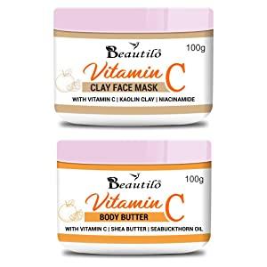 Beautilo Daily Care Pack  Vitamin C Body Butter   Vitamin C Clay Face Mask  AllTrickz.jpg