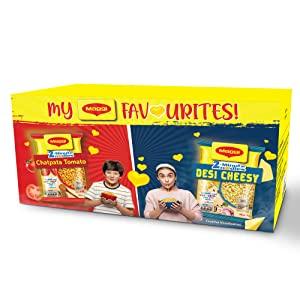 My MAGGI Favourites 2 Minute Instant Noodles Box  Desi Cheesy Masala 6 Pack x 60.5g  AllTrickz.jpg