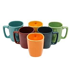 Sampla Kalyke Series Ceramic Square Coffee Mugs   6 Pieces AllTrickz.jpg