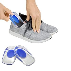 TRIVYO Gel Heel Cups Silicon Heel Pad for Heel Ankle Pain AllTrickz.jpg