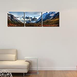 999Store Multiple ICY Mountain Art Panels Like Painting  135X45cm    3 Frames AllTrickz.jpg