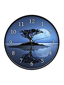999Store Printed Tree Shadow Moon Wall Clock AllTrickz.jpg