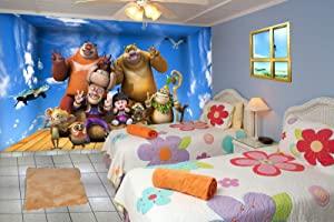 999store 3D Blue Sky and dablu bablu with Friends Kids Room Wallpaper  Self Adhesive_4x5 Feet_Blue  AllTrickz.jpg