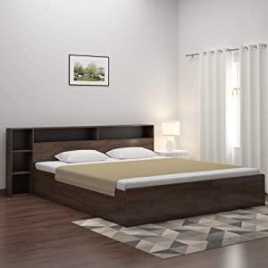 @home By Nilkamal Torrie Particle Board Engineered Wood Platform King Size Bed with Box Storage  Black  AllTrickz.jpg