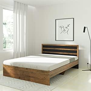 Amazon Brand   Solimo Alasia Engineered Wood Queen Bed  Forest Dark   Black  AllTrickz.jpg