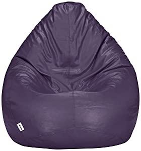 Amazon Brand   Solimo XXL Bean Bag Filled With Beans  Purple  AllTrickz.jpg