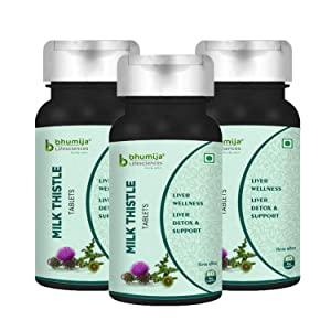 Bhumija Lifesciences Milk Thistle 250mg Tablets  60 Tab  for Detoxification   optimizing Liver Functions Pack of 3 AllTrickz.jpg