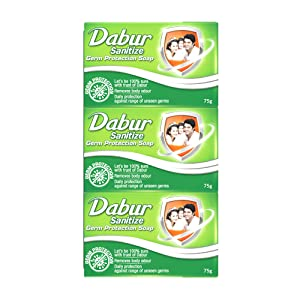 Dabur Sanitize Germ Protection Soap   75Gm  Pack Of 12  AllTrickz.jpg