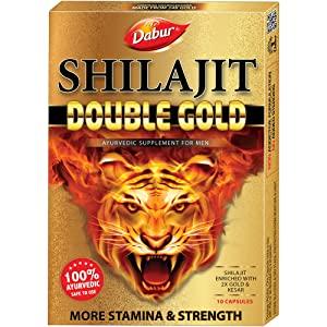Dabur Shilajit Double Gold   10 Capsules AllTrickz.jpg