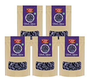 Dnature Fresh Premium Black Raisins Kishmish 1kg   Pack of 5   200g Each  AllTrickz.jpg