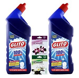 GLITO Toilet Cleaner 1000 ml Pack of 2  WINALL Air Freshener 50g Pack of 2  AllTrickz.jpg