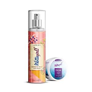 Layerr Wottagirl Mandarin Twist Body Splash 135ml with Get Moisturizing Cream 25g AllTrickz.jpg