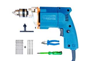 Shree Jee Traders Dee Power 10Mm Drill Machine with Plier   Line Tester   6 Hss Bit  4 Masonry Bit AllTrickz.jpg