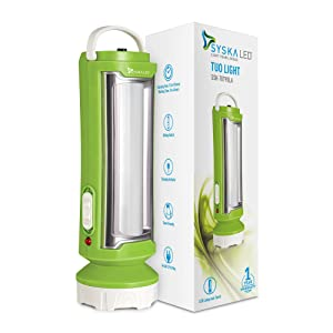 Syska T0790LA Tuo Portable Rechargeable Led Lamp Cum Torch with Upto 4hrs Backup  Green White  AllTrickz.jpg