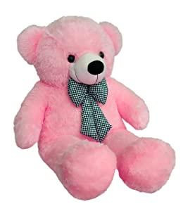 Webby 3 Feet Huggable Teddy Bear with Neck Bow  Pink  AllTrickz.jpg
