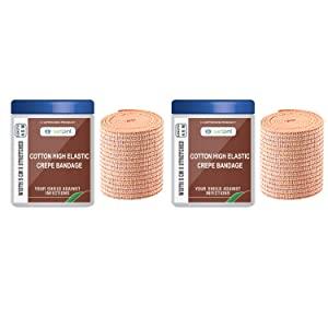 safent SAFE0057 SET 2 Cotton High Elastic Bandage   2 Inch    5Cm AllTrickz.jpg
