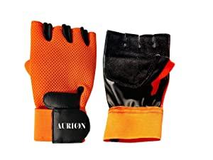 AURION GYM GLOVE 1313 ORANGE Sports AllTrickz.jpg