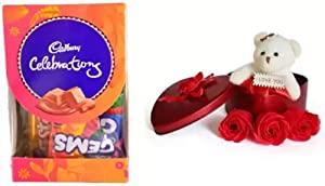 Cadbury Mini Gift Pack Chocolates with Heart Shaped Teddy   Flowers Box Combo  Cadbury Mini Gift Pack Chocolate   1 AllTrickz.jpg