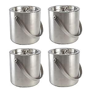 Double Wall ice Bucket   1 Litre  Set of 4  AllTrickz.jpg