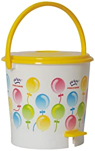 Princeware 4432 Printed Round Small Assembled Light Garbage Bucket  12 litres  AllTrickz.jpg