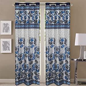 Queenzliving Grandeur Curtain for Door 7 feet  Pack of 2 AllTrickz.jpg