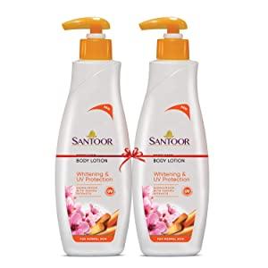 Santoor Perfumed Body Lotion for Whitening   UV Protection with Sandalwood   Sakura Extracts AllTrickz.jpg